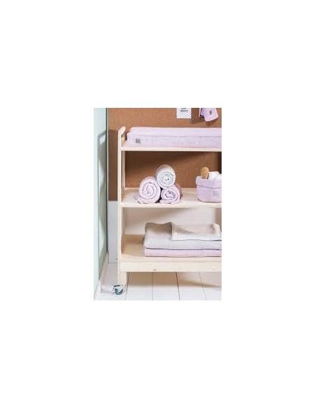 Jollein Panier de rangement pour table à langer Confetti Knit - Vintage Pink